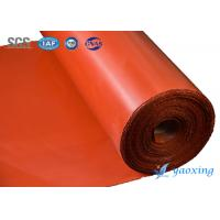 China Aging Resistant Silicone Coated Fiberglass Fabric Two Sides Silicone Rubber Coated Glass Fabric on sale