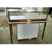 Quality Durable Jewelry Store Fixtures  / Store Display Cases With Stainless Steel Frame wholesale