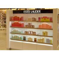 Quality Wooden Glass Shelf Cosmetic Display Case Matte White Painting Finished Color wholesale