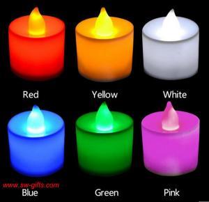 China Polypropylene Plastic Candle Shape LED Fliker Flameless Candles Light For Wedding Party on sale