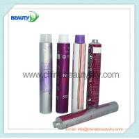 China Empty  aluminum Collapsible tubes for hair dying cream packing silver color printing on sale
