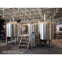 Quality 10BBL Brewhouse Large Scale Brewing Equipment Semi Auto Control Panel wholesale