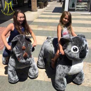 China Hansel amusement park electric motorized animal car plush toy rides on sale