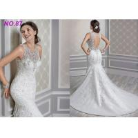 Quality Standard Size Romantic Mermaid Princess Bride Wedding Dress For Girls Custom Made wholesale