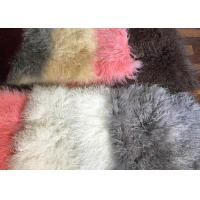 Quality 110cm * 55cm Sheepskin Accent Rug Plate For Home Throw / Making Garment wholesale