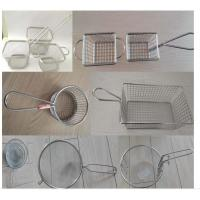 Cheap Mini Perforated Baking Tray Wire Mesh Deep Fat Fryer French Fries Holder Basket for sale