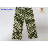 Quality Color Customized Cute Baby Girl Leggings Heart / Circle Printed Without Side Seam wholesale