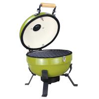 Quality Green Color Mini Kamado Grill , Table Top 3-5 People Mini Ceramic Bbq wholesale