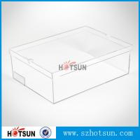 Quality Hot sale clear transparent sport shoes sneaker acrylic display boxes wholesale