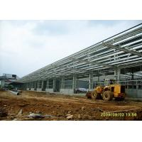 Quality Durable Steel Structure Warehouse Portal Structure Frame With Long Overhang wholesale