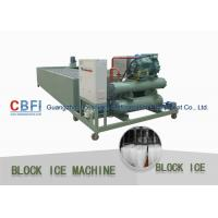 Quality 415V Industrial Power Supply Ice Block Machine With Water Cooling / Air Cooling wholesale
