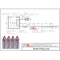 Quality Cooking Gas Production Bottle Filling Line With Aerosol Can Weight Checking Machine wholesale