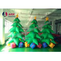 Cheap Oxford Cloth Giant Inflatable Holiday Decor , Air Brown Inflatable Christmas Tree for sale
