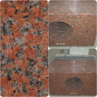 Quality Maple Red Granite Work Tops Polished Solid Surface High Hardness / Density wholesale