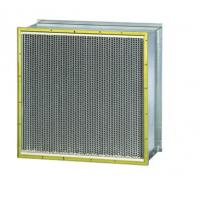 Quality HVAC Industrial Pleated HEPA Filter With 0.3 Micron Particles wholesale