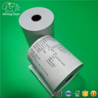 China BPA FREE Thermal Credit Card Paper Rolls 65GSM Black Plastic Core High Tightness on sale