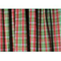 Quality Red And Green 4 Way Stretch Warp Knitted Matt Lycra Plaid Fabric / Printed Spandex Fabric  1.5m*220gsm wholesale