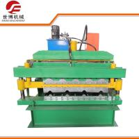 China Roofing Tile And IBR Double Deck Color Coated Steel Sheet Roll Forming Equipment on sale