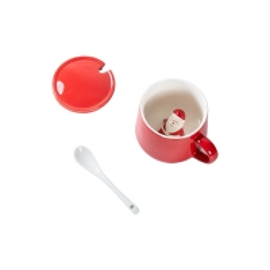 Quality Glaze 350ml 13x9.5x9cm Christmas Ceramic Mugs wholesale