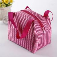 Quality Eco Friendly Pink Insulated Cooler Bags With Canvas Fabric Material Wash In Water wholesale