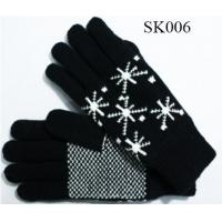 Quality girls knitted gloves acylic gloves SK006 beautiful style children gloves kids gloves wholesale