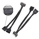 Quality 15 Pin 2 Pack SSD Accessories , SATA Power Cable Splitter 15cm For Hard Drives wholesale