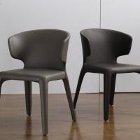 China Multi Colored Modern Leather Dining Room Chairs Home Furniture Fashion Design on sale
