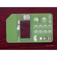 Quality Light Green PET LED Push Button Membrane Switch / Keyboard Mechanical Switches wholesale