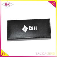 China Promotional customized leather and plastic storage pen packaging gift box manufacturer on sale