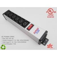 Quality 6 Outlet Flat Plug Power Strip Metal PDU With Overload Protector IEC Approved wholesale