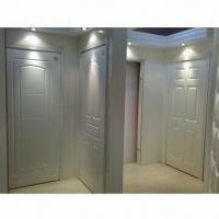 Quality Engineered wood interior door with white lacquer painting wholesale