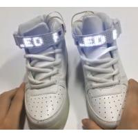 China Remote Control Led Screen Shoes , Rechargeable Womens High Top Light Up Shoes on sale