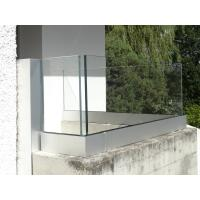 China Aluminum 6063-T5 Frameless Glass Balustrade Stainless Steel Railing Tubes With Glass Clamp on sale