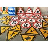 Road Safety 10x14inch Thickness Reflective Traffic Signs For Urban Transport for sale