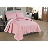 Quality Beautiful Pink Quilted Coverlet Custom Made Bedspreads Full Size Bedspread wholesale