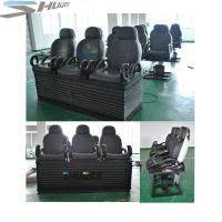 Quality Newest 3 DOF Pneumatic / Hydraulic Black Motion Theater Chair With Dustproof Plastic Cover wholesale