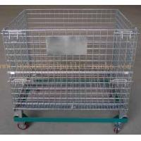 """Buy cheap 5"""" Casters Removable Wire Mesh Container Storage Cages With Trolley Cars product"""