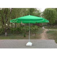 Quality Green Round Outdoor Patio Umbrellas , Professional Beach Umbrella With Fringe wholesale