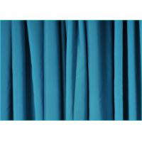 Quality Semi-Gloss Light Blue Polyester Spandex Fabric Warp Knitted Type wholesale