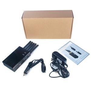 Cheap 5 Antenna Handheld Cell Phone 3G WIFI GPS GSM CDMA DCS PHS Signal Jammer 20M Shield Radius for sale
