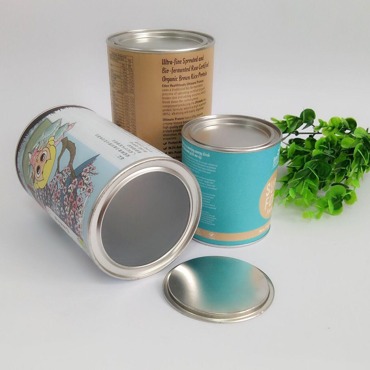 China Hot Stamping Paper Composite Can Packaging For Chocolate Powder / Coffee Powder / Milk Powder on sale