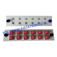 Quality Fiber Optic Adapter Plate FC / UPC 12 Port White Color Suitable For Patch Panel wholesale