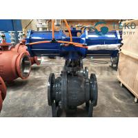 Quality High Pressure DBB DIB Structure 3PC Body Trunnion Ball Valve Flanged End With Gear Operation wholesale