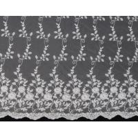 China Ivory Mesh Based  Embroidery Lace Fabric   for Wedding Bridal Dress on sale