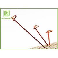 Quality Red Bamboo BBQ Sticks Knotted Bamboo Skewers For Fruit 70 / 80 / 105 / 120mm wholesale