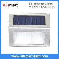 Quality AAA LiFePO4 3LED Solar Step Light Solar Powered White LED Staircase Step Lights Stairways Landscape Garden Path Lamp wholesale