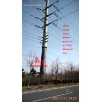 China MEGATRO 220KV double circuit tension angle pole and 10KV distribution pole,megatro tower on sale