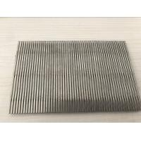 Quality SUS 304 316 Stainless Steel Wedge Wire Screen 1mm Slot Size For Filter Mesh wholesale