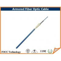 Buy cheap Flexible Armored Fiber Optic Patch Cable Connectors / Simplex Fiber Optic Cable product
