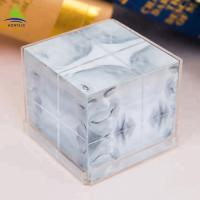 China Clear 6 Side Acrylic Photo Frames Cube  Customized Size  Silk Screen Printing on sale